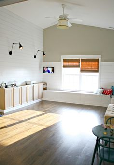 Full tutorial on how to add the wood shiplap look to your walls for a lot less than the real thing.