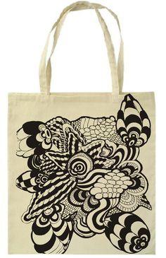 Screen Printed Canvas Bags by Petra Blahova, via Behance