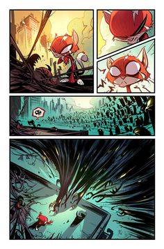 #Spider #Kitty  #Marvel Comics, written by #Skottie #Young  found on Behance : http://www.behance.net/gallery/Comics/3647363