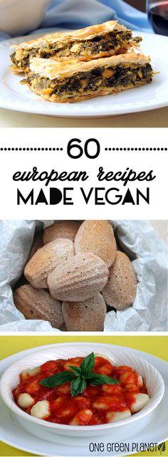 Your 60 Favorite European Recipes Made Vegan http://onegr.pl/1uYaWNc #vegan #recipe