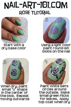 Rose Nail Art chart