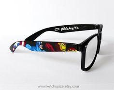 Avengers Custom Wayfarer Style Sunglasses - oh ya, i would totally wear these!