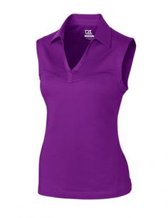 Cutter buck ladies and plus size cb drytec kingston for Plus size sleeveless golf shirts