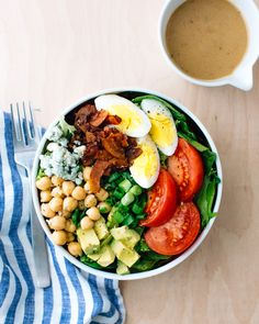 Vegetarian Cobb Salad | A Couple Cooks