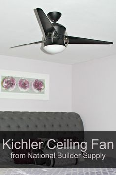 Amanda from Dreamsicle Sisters installed one of our Kichler Cadence ceiling fans in her guest room. Watch her video review by clicking the photo above!