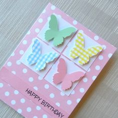 homemade Greeting Cards with butterflies