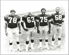 Original STEEL CURTAIN - Dwight White, Ernie Holmes, Joe Greene and L.C. Greenwood (Pittsburgh Steelers)