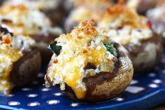 Jalapeno bacon cheddar stuffed mushrooms. Yes please.