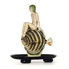 Hugh Italy Ceramic Lenci Artist Signed C I A Manna Torino