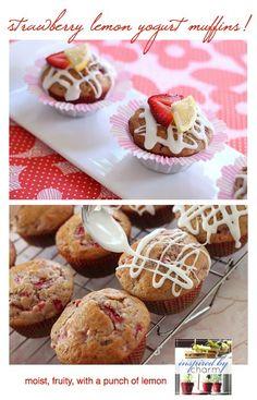 strawberry lemon yogurt muffins!