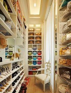 even narrow spaces can be beautifully organized...