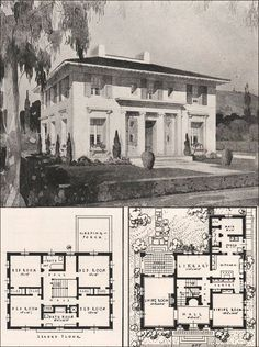 Elegant 1916 House plan, Garden City Plans - Design 25 I love this house.