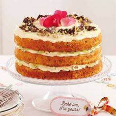 This beautiful cake is a pistachio-flavoured sponge soaked in a zesty ...