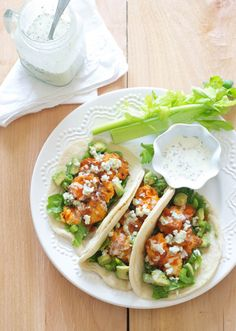 Buffalo Chicken Tacos | Oh So Delicioso