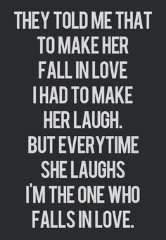 Love and laughter go hand in hand.