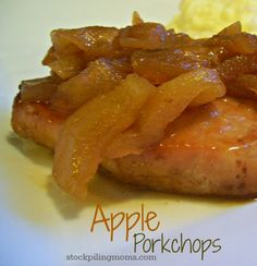 Seriously apples and porkchops. I'm so going to make this. Only five ingredients in this yummy gluten free dinner!