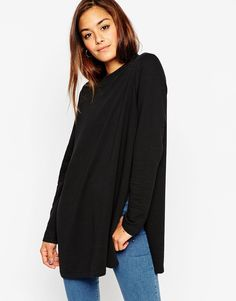 ASOS+Longline+Sweat+With+Side+Splits