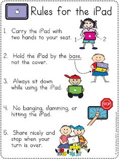 Free iPad Rules Download!  This poster is a freebie, plus there are a lot of tips for using the iPad in a one iPad classroom.