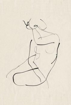 Aurore de La Morinerie  nude female drawing