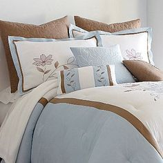 Love this bedding for a beach house @ jcpenney