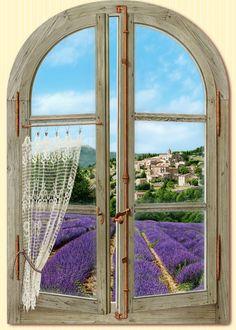 "Lavender: ""Fenêtre sur la Provence"" (""Window on Provence""), by Bernard Scholl."