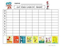 Free!! Dr. Seuss favorite book graph fun!!! 2 pages!!!