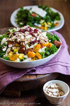 Marinated Kale Salad with Lemon Vinaigrette   @paleospirit