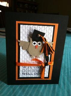Owl punch graduation card