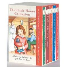 Little House on the Prairie Series by Laura Ingalls Wilder..i grew up on these here books!