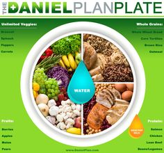 The Daniel Plan - The Daniel Plan Plate… Actually, Daniel and his three friends were on a MEATLESS diet soooooo… Say NO to the meat protein and YES to plant-based protein