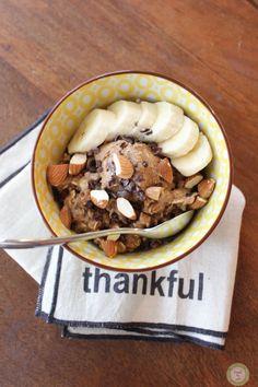 Gluten Free Oatmeal Bowl. Vegan.