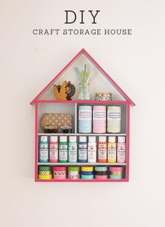 DIY Craft Storage House {Tutorial}