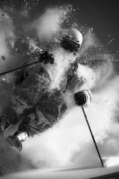 Deep powder #ski