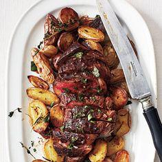 Bistro Steak with Red Wine Sauce | MyRecipes.com