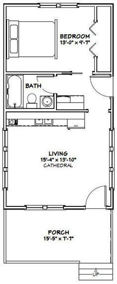 Tiny house blueprints on pinterest floor plans tiny for 16x30 house plans