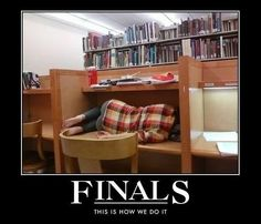 I can relate. Oh how I love college life!