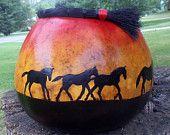 Sunset Run gourd bowl