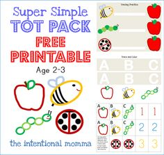 toddler preschool homeschool simple easy two 2 three 3 year old