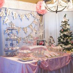 Winter Wonderland Pink Themed First Birthday Party