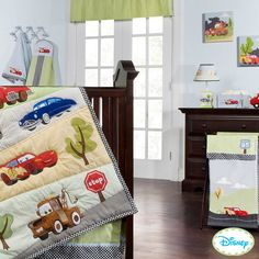 Baby Disney Cars 4 Pc Crib Bedding Set Little Racer Boys