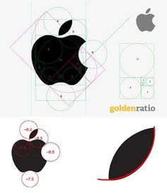 Apple logo isn't (exacly) conform the golden ratio - 6 tips for using grids in logo design | Logo design | Creative Bloq