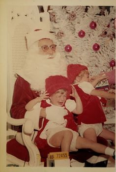 Vintage Christmas   this reminds me of getting my picture taken in