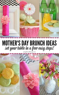 Mother's Day Brunch Ideas - put together a Mother's Day brunch table in just a few easy steps!