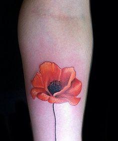 Lovely Bright Poppy Tattoo Ideas