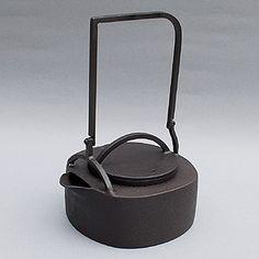 Japanese iron teapot.