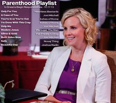 A playlist that will lift you up and tear you down.   #Parenthood