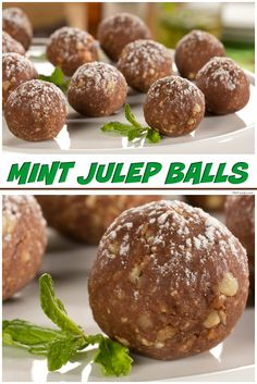 Cookie balls with all the flavor of a mint julep. These are great for a Kentucky derby party or anytime!