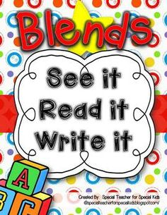 See It, Read It, Write It-- BLENDS   {Word Work Centers, Printables, Interactive Booklets!} $