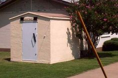 Safe Shed - Pre-cast concrete sheds in two sizes: 6X6 and 8X10. Good value for the price and easy installation.