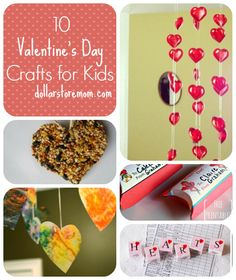 10 Valentine's Day Crafts for Kids!